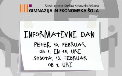 Informativni dan 2021