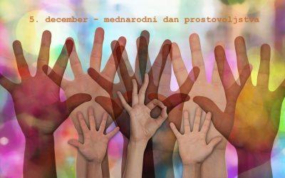 Ob mednarodnem dnevu prostovoljstva: Ali je prostovoljstvo še aktualno?